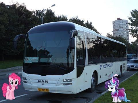 Поездка на автобусе MAN R14 Lion's Regio C (МТА) ЕУ 393 50 Маршрут № 308 Домодедово