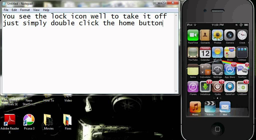 How To Remove The Lock Icon Next To The Battery In The Ipodavi