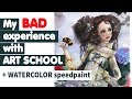 ART SCHOOL EXPERIENCE + Watercolor Speedpaint