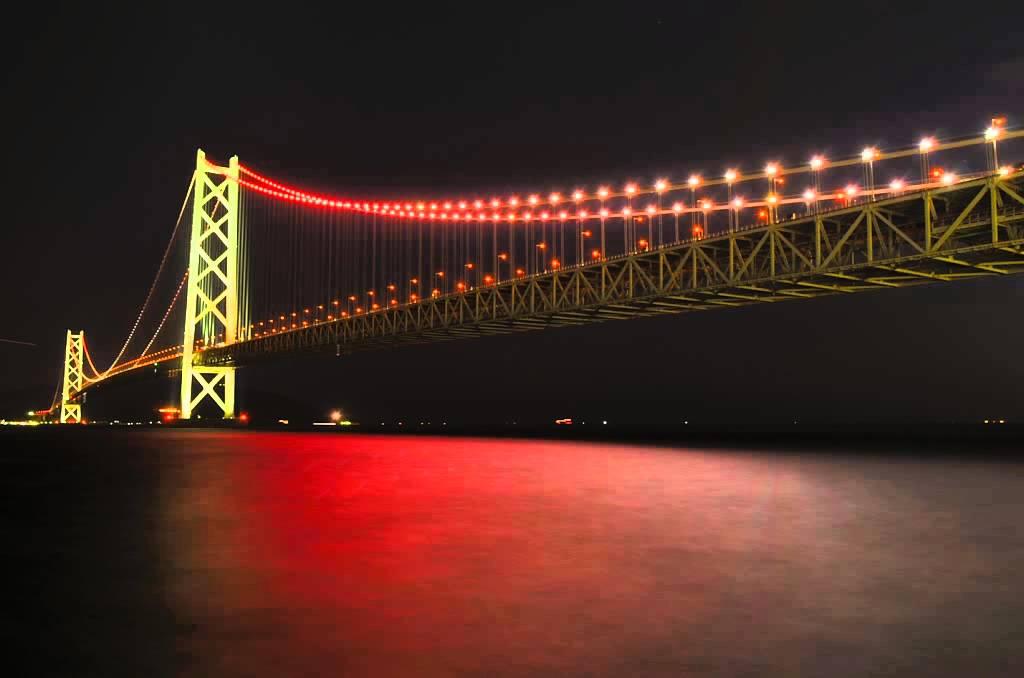 明石 海峡 大橋 ライト アップ