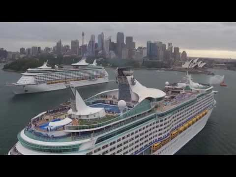 Two Royal Caribbean ships meet in Australia for first time