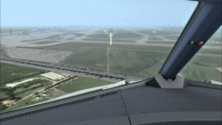 Foggy approach and  landing @ Frankfurt with A321