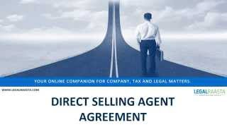 Direct Selling Agent Agreement | format | template | Legalraasta