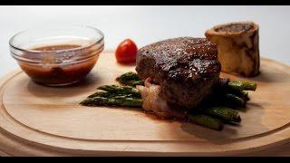Стейк из говядины со спаржей | Мясо. От филе до фарша