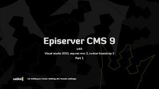 Episerver CMS 9 tutorial with asp.net mvc 5 och twitter bootstrap 3 part 1