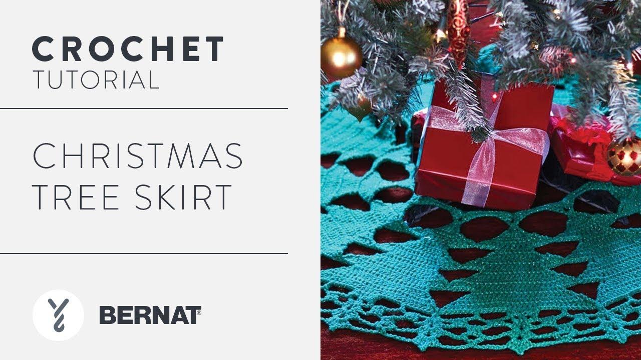 Crochet Christmas Tree Skirt Tutorial Youtube