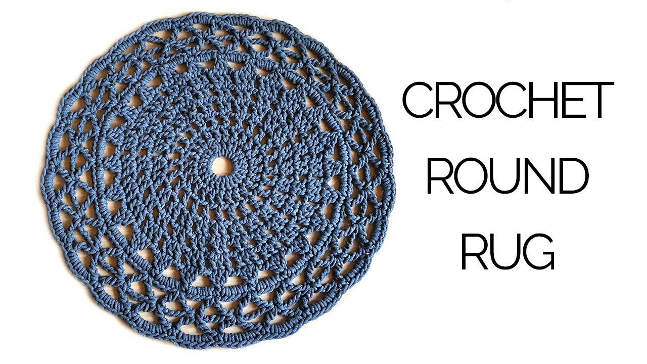 How To Crochet A Round Rug You