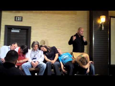 hypnotist Marshall silver hypnotizes Alex Jeffreys & Paula Brett