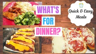 WHAT'S FOR DINNER? || Quick & Easy Meal Ideas for a Busy Week || DINNER INSPIRATION
