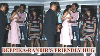 Deepika Padukone and Ranbir Kapoor greet each other as old friends, fans go crazy