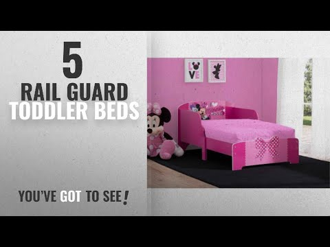 Top 10 Rail Guard Toddler Beds [2018]: Disney Minnie Mouse Wood Toddler Bed, Features 2 attached