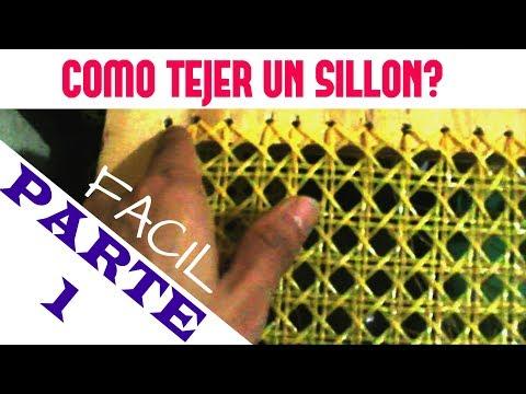 Como tejer un sillon con un dolar facil parte 1 diy - Como tapizar un sillon ...
