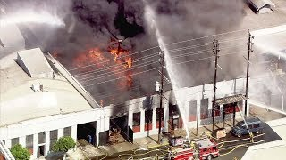 Massive fire erupts at Boyle Heights commercial building | ABC7