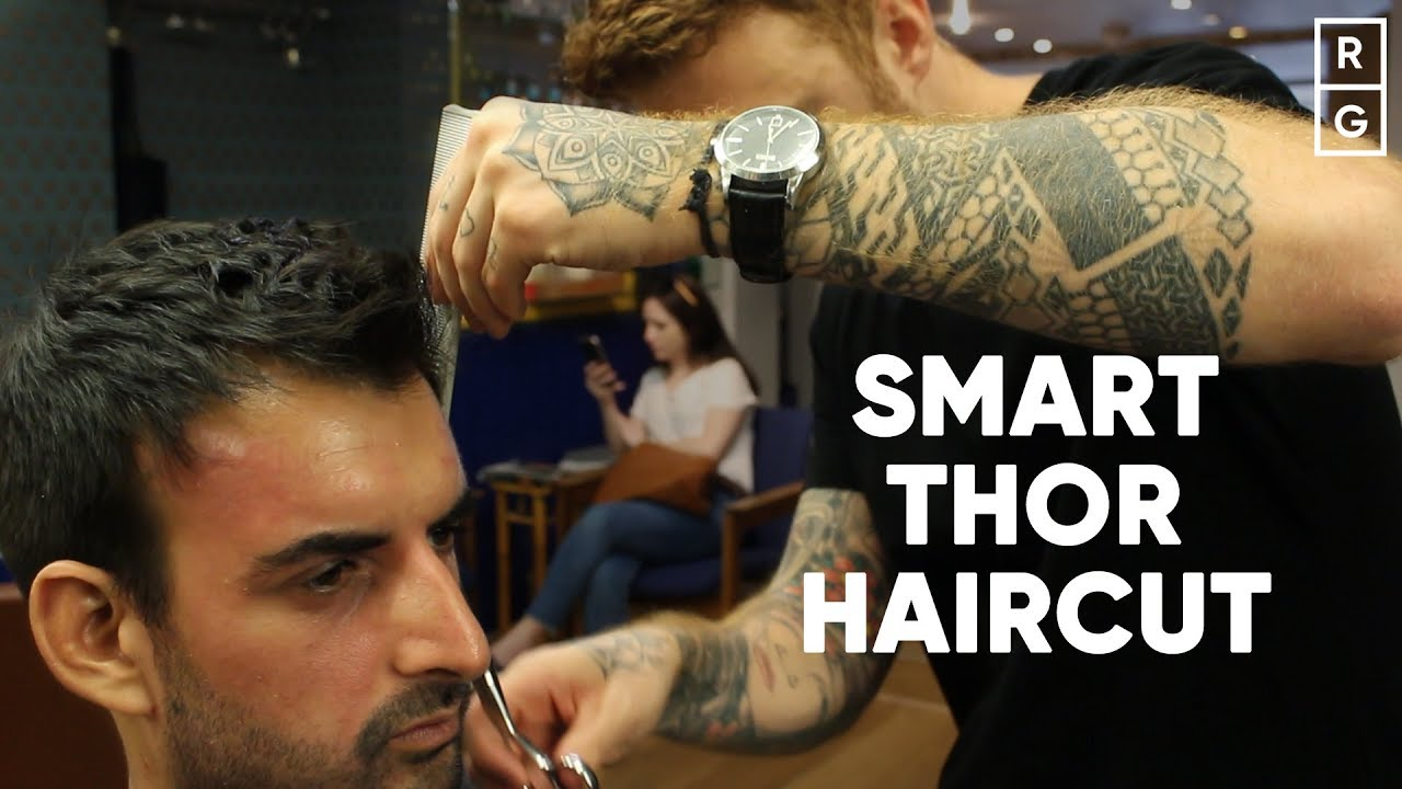 Chris Hemsworth Thor Inspired Haircut For Smart Workplaces Youtube