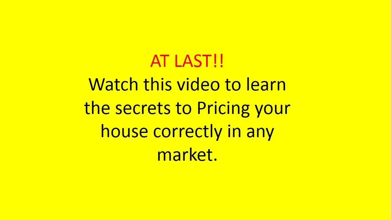 Pricing Your Home How To Price A Property Value Your Home Homedealztv