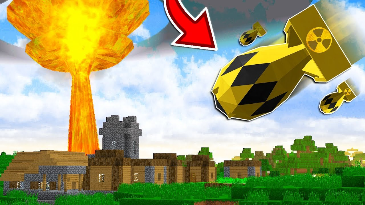 EXPLODING A NUKE MISSILE IN MINECRAFT!!... (DO NOT TRY THIS)