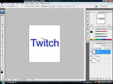 Adding an outline around text in photoshop Cs3
