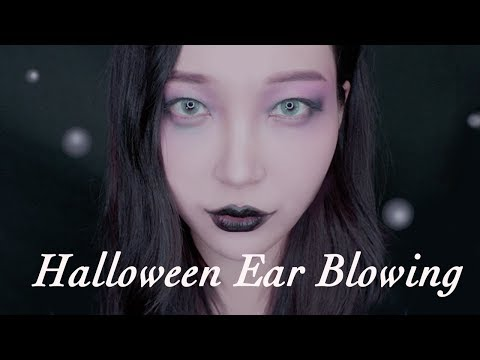 ASMR Ear Blowing🌬from Halloween Witch Soothing Deep Breathing