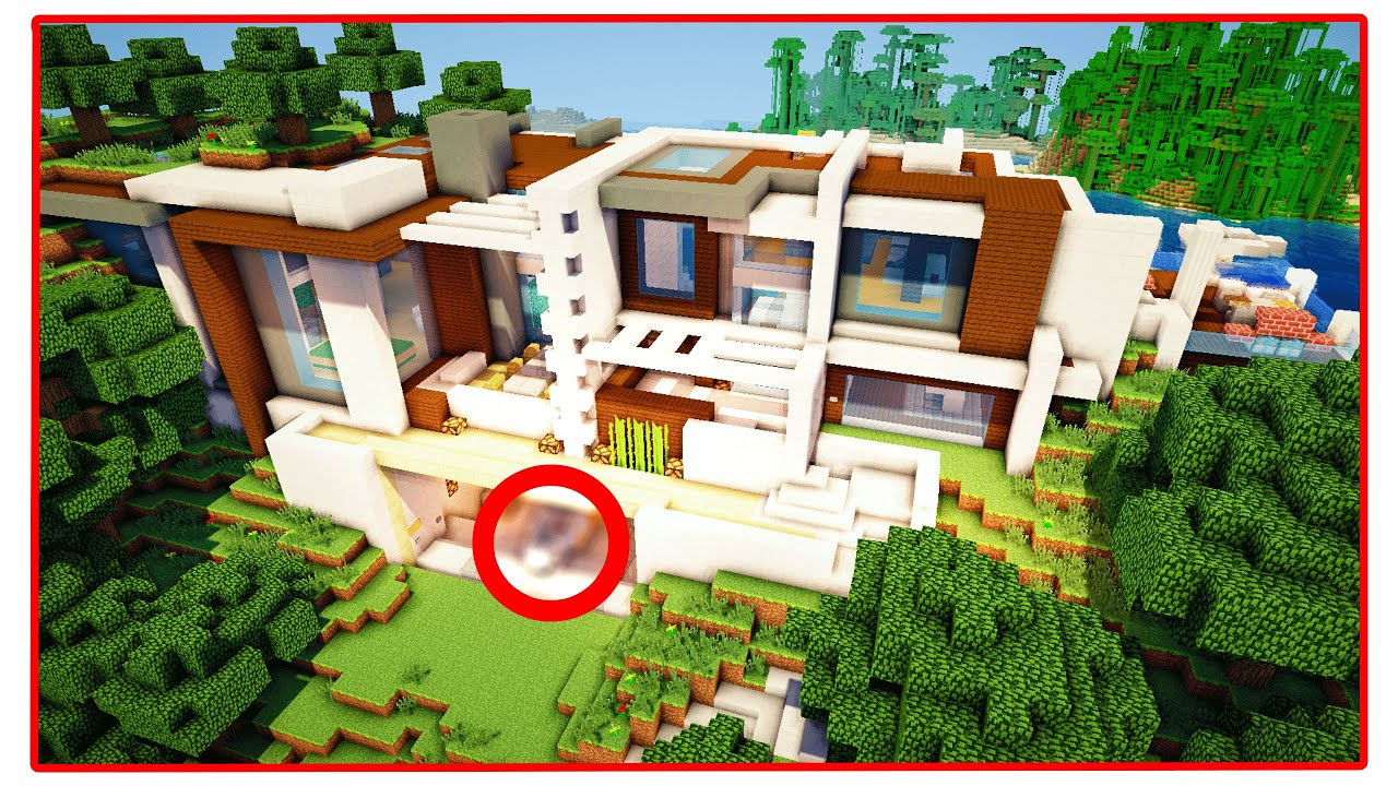 Large Mansions 10 000 000 Modern Minecraft Redstone Mansion Youtube