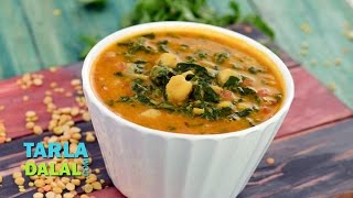 Mixed Dal with Spinach and Kabuli Chana by Tarla Dalal