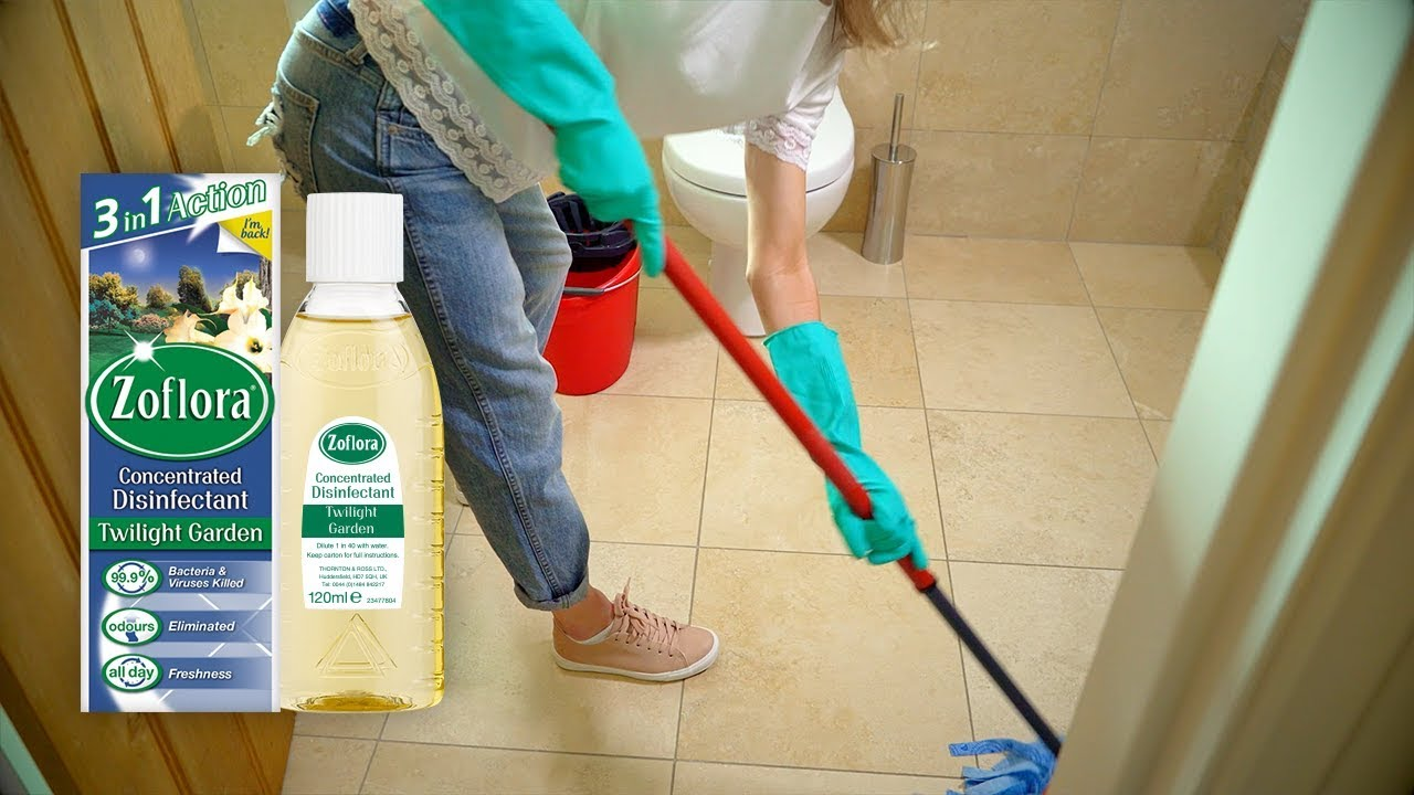 THE SECRET TO SPARKLING BATHROOM FLOORS   Cleaning your tiles with Zoflora