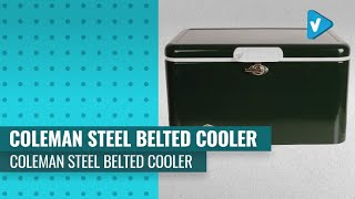 Coleman Cooler | Steel-Belted Cooler Keeps Ice Up To 4 Days | 54-Quart Cooler For Camping, BBQs...