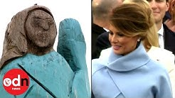 Controversial Statue Of First Lady Melania Trump Unveiled In Slovenia