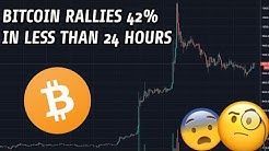 Bitcoin Rises 42% In Less Than 24 Hours | Here's What You Need To Know