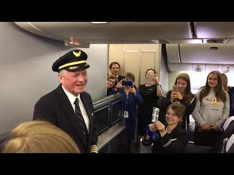 Student choir sings emotional a capella song for captain's last flight