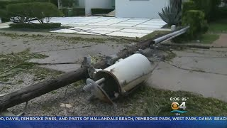 Locals In North Miami Concerned Over Damage, Downed Power Lines