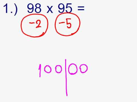 Math trick. คณิตคิดเร็ว : การคูณเลขใกล้100 (การคูณเลขโดยใช้เลขอ้างอิง)