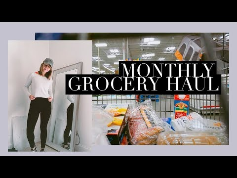 Vlog #4: $300 Monthly Grocery Haul