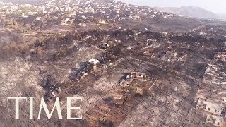 Drone Footage Shows Devastating Aftermath Of Greece Wildfires | TIME
