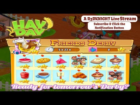 Hay Day Live Stream - The Friends Derby, 400 Points, Puzzles, More Tasks