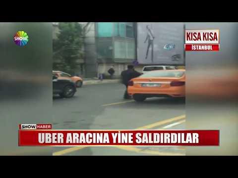UBER Aracına Yine Saldırdılar