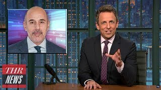 Seth Meyers, Stephen Colbert Tackle Matt Lauer Scandal | THR News