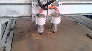 Double Head Cnc Wood Engraving Machine