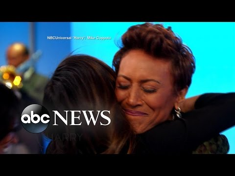 Robin Roberts Surprised by Her Former Nurses on 'Harry'