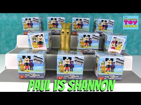 Paul vs Shannon Challenge Disney Crossy Road Blind Box Opening | PSToyReviews