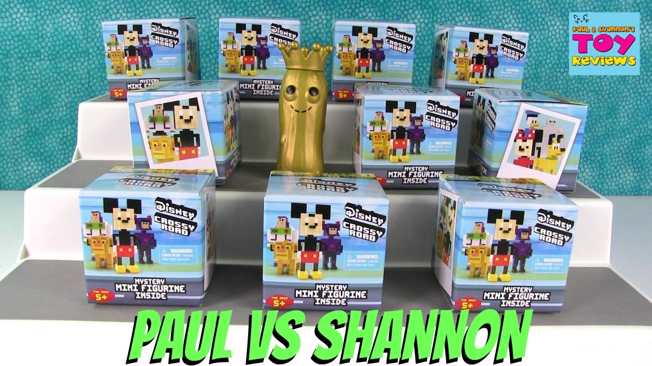 Paul Vs Shannon Challenge Disney Crossy Road Blind Box Opening - crossy road coloring pages