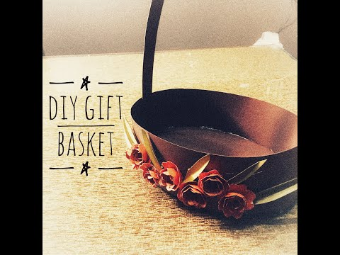 DIY Gift Basket | how to make: basket with paper | DIY gift idea (part 1)