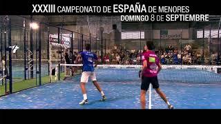 Spot Finales Junior Femenina y Masculina Campeonato España de Menores 2019