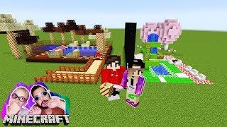 NINA CANDY FREIBAD vs KAAN SCHOKOLADEN FREIBAD! Welches Schwimmbad ist lecker?Minecraft Build Battle