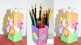 How to Make Pen Stand | Paper Pencil Holder | Origami Pen Holder | Hexagonal Pen pencil Holder