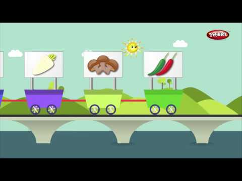 Vegetables Train in Gujarati     Gujarati Rhymes For Kids  Learn Gujarati