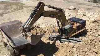 Cat 385C Excavator Loading Cat Dumpers - Labrianidis SA thumbnail