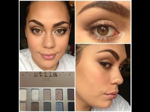 EASY brown eyeshadow look:) (stila IN THE LIGHT palette) - YouTube