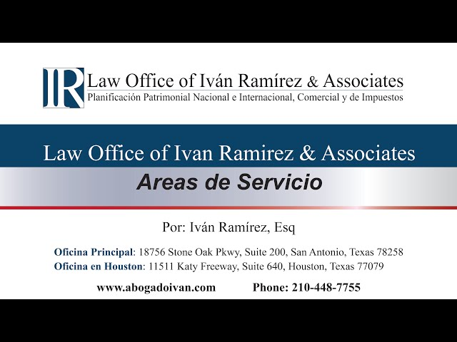 Áreas de Servicio de el Law Office of Ivan Ramirez and Associates