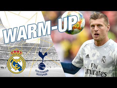 Real Madrid warm up before Tottenham match!