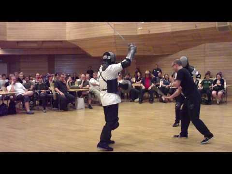 Bolognese swordsmanship demonstration